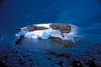 alaska, blue, cave, ice, light, river, stream, aufeis, nature, landscape, art, photo, photograph, photography
