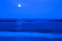 "moon, rise, night, dawn, ocean, sea, coast, shore, wave, surf, water, sky, ""north carolina"" ""outer banks"" nature landscape seascape, photo, art, photograph, photography, top, best, moonrise"