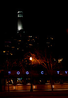 "art, california, city, coit, ""coit tower"", diner, embarcadero, ""fog city"", light, neon, night, photo, photograph, photography, ""san francisco"", street, tower, cityscape, travel, scenic"